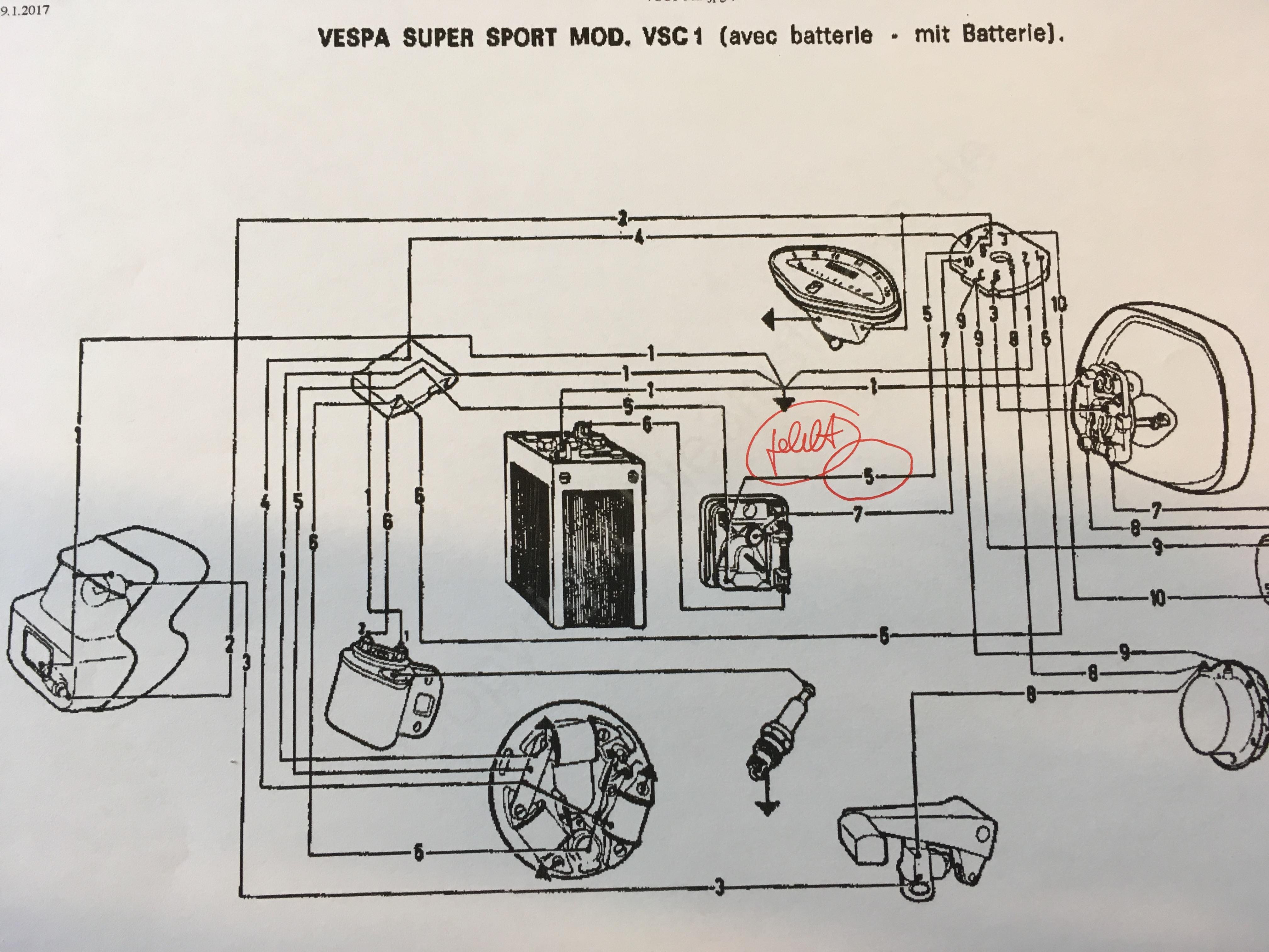 Vespa Rally Elektrikfragen - Vespa Rally, Sprint, VNA, VNB, VBB ...